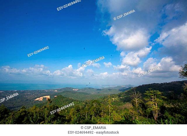 The landscape on Koh Samui seen from viewpoint