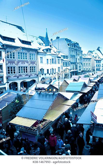 Christmas market, Mulhouse, Alsace, France