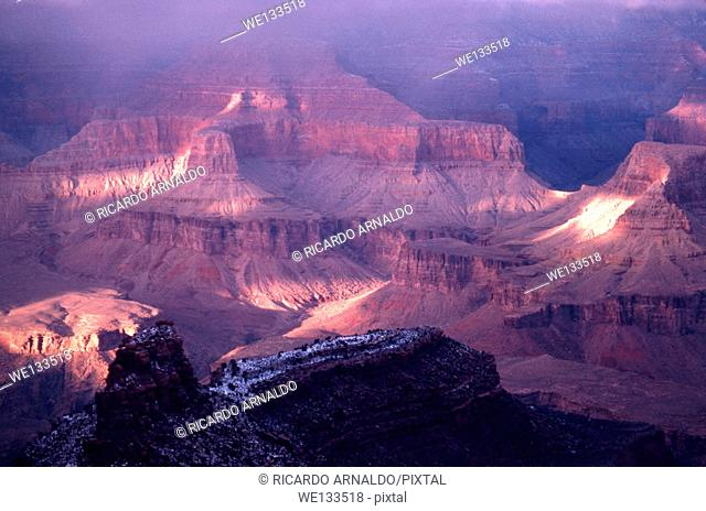 A Misty Winter View of the Grand Canyon