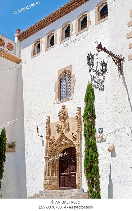 Maricel Palace at Sitges on southern Barcelona in Catalonia Province, Spain