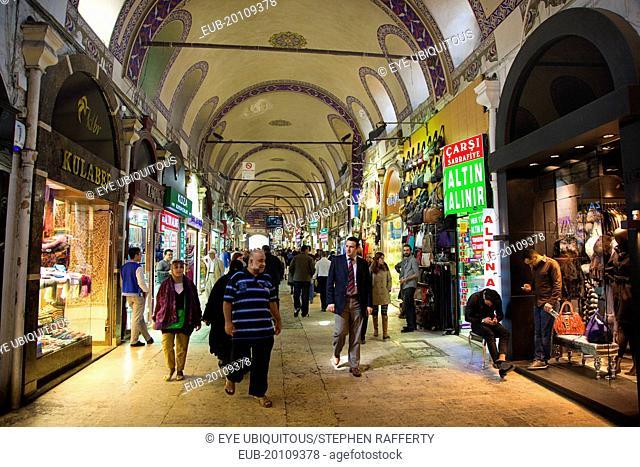 Fatih, Sultanahmet, Kapalicarsi, Grand Bazaar interior