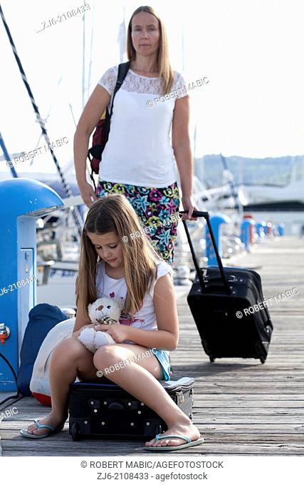 Mother and daughter on travel