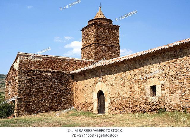 Allepuz, Santa Isabel de Sollavientos hermitage (16th. century). Maestrazgo region, Teruel province, Aragon, Spain
