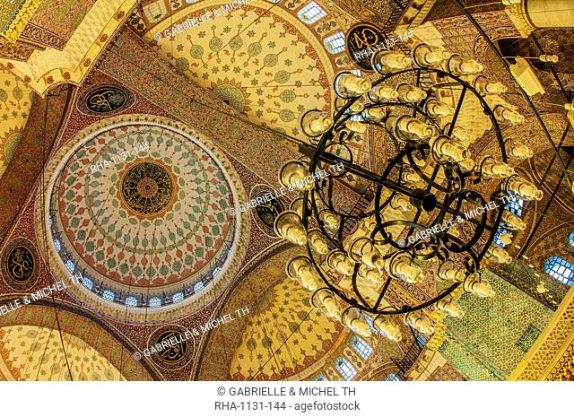 Yeni Cami or the New Mosque, Domes and cupolas, Istanbul Old city, Turkey