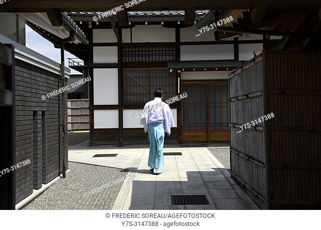 A shinto priest at Fushimi Inari, Kyoto, Japan, Asia