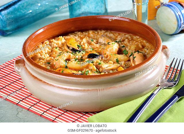 Senyoret young gentleman rice served in its casserole