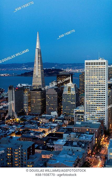 San Francisco from the Mark Hopkins Hotel on Nob Hill