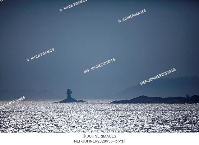 Lighthouse on small island