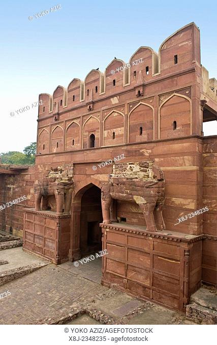 India, Uttar Pradesh, Fatehpur Sikri, old town