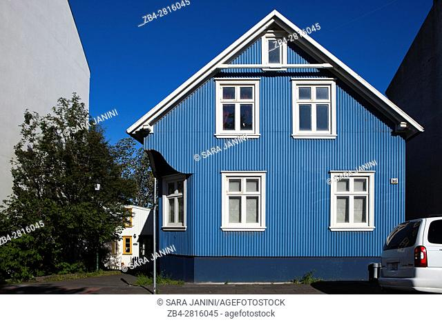 Colored Houses, Center Town, Reykjavik, Iceland
