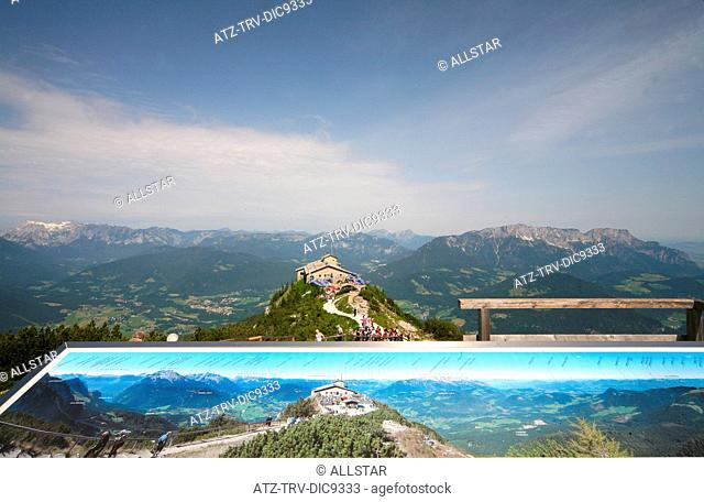 PANORAMA POSTER, EAGLES NEST, KEHLSTEINHAUS; NEAR BERCHTESGADEN, GERMANY; 24/06/2008