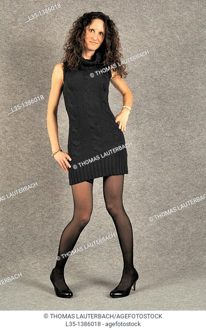 Young woman with very long legs