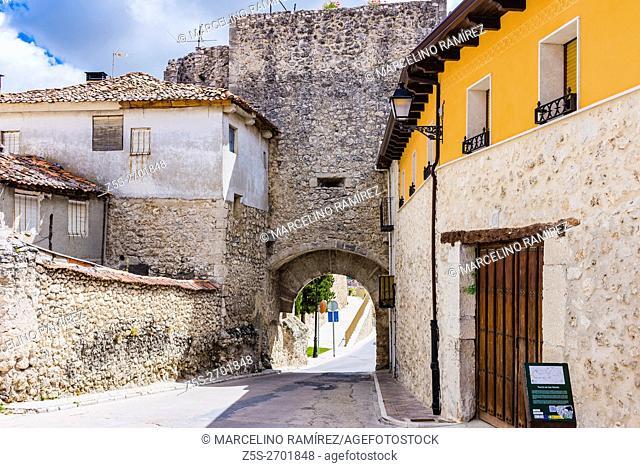 San Martín Gate. Cuéllar, Segovia, Castilla y León, Spain, Europe