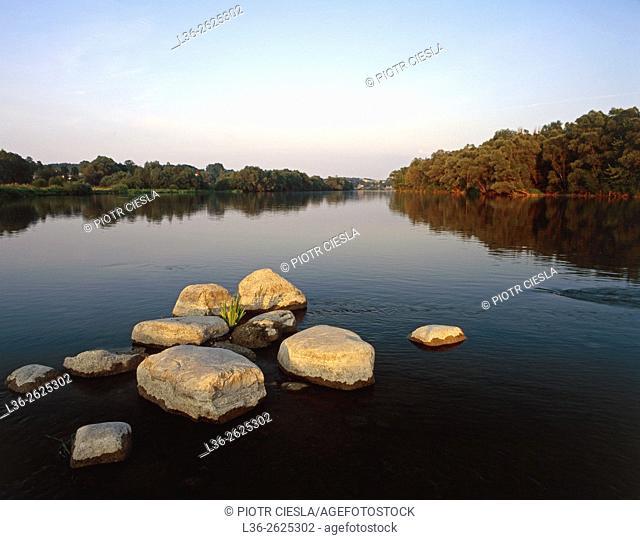 Bug river near Mielnik village. Podlasie region. Poland