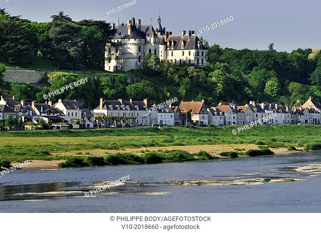 France, Loir et Cher, Chaumont-sur-Loire, castle of Chaumont-sur-Loire along the Loire river, on the world heritage list of UNESCO, built in XV century