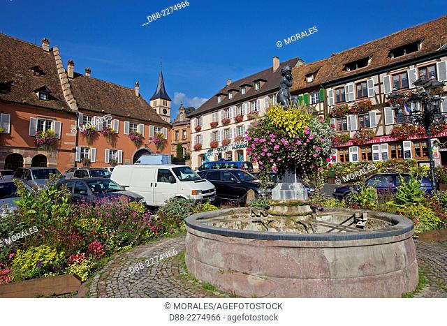 France,Alsace,Bas-Rhin (67),Wine Route,Barr,facade of the town hall