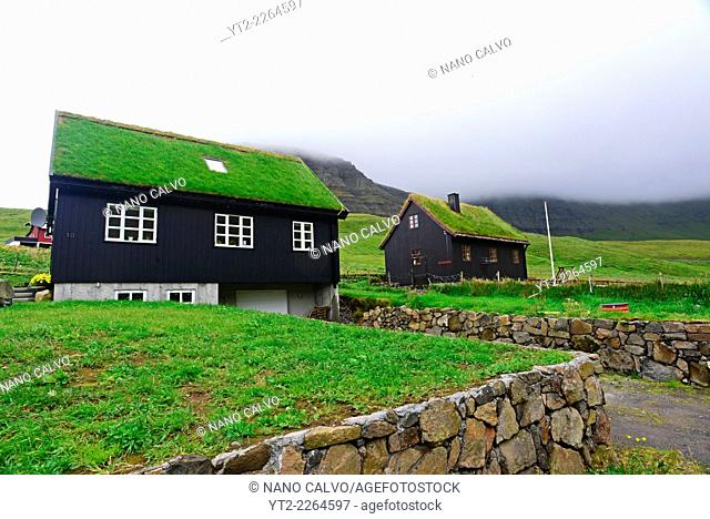 Small village of Gásadalur, Vágar, Faroe Islands