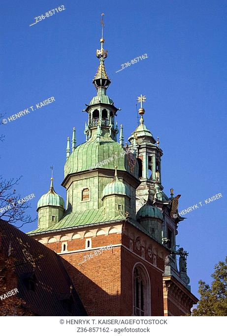 Poland, Krakow, Cathedral Tower, Wawel Hill