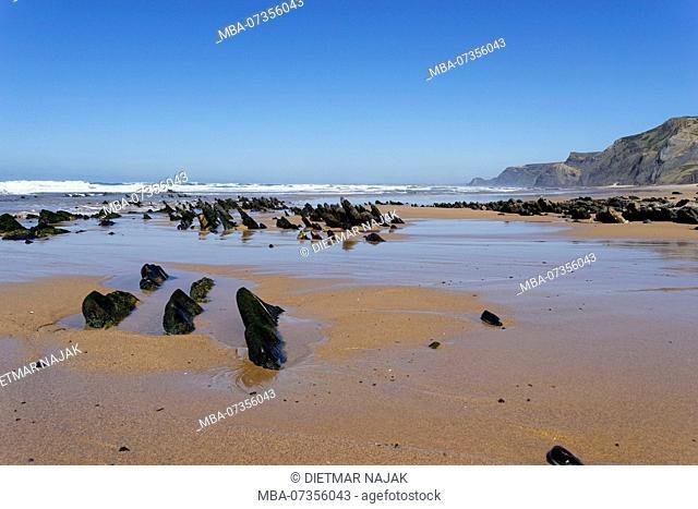 Praia da Cordoama and Praia do Castelejo on the Atlantic Ocean near Vila do Bispo