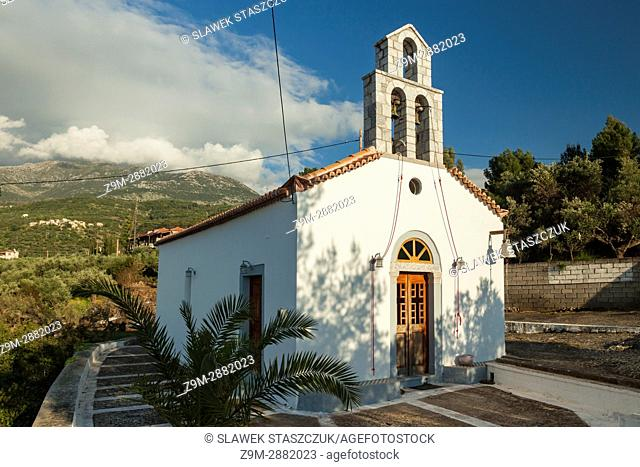 Agios Dimitrios church on the coast of Messenia, Peloponnese, Greence