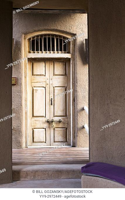 Decorative Wooden Door to Sultan Suite at Onguma The Fort, Onguma Game Reserve, Namibia, Africa