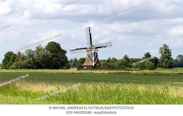 Old windmill in Holland, the Netherlands in the olden days