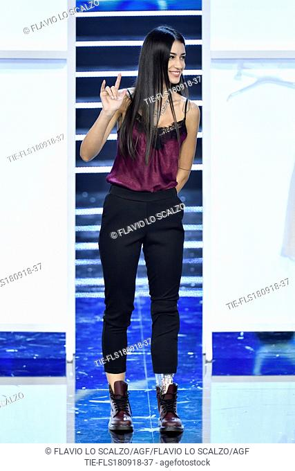 Chiara Bordi, third classified at the final of Miss Italia 2018, Milan, ITALY-17-09-2018