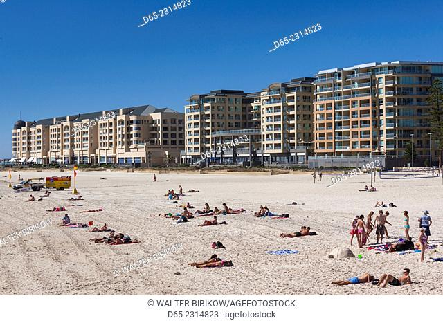 Australia, South Australia, Gelnelg, Waterfront buildings, Glenelg Beach