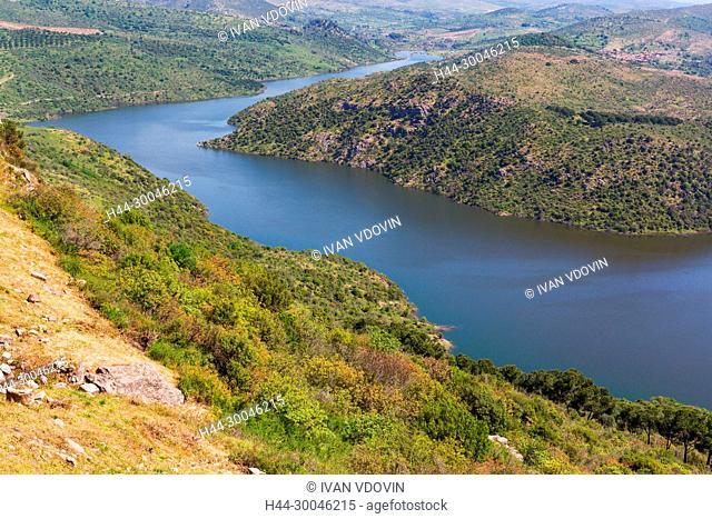 Dam lake, valley of Ketios river, Pergamon, Bergama, Izmir Province, Turkey