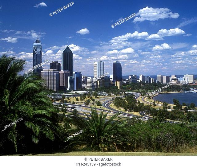 Perth - Skyline of Western Australia's state capital and largest city