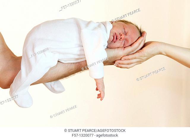 Three week old baby boy