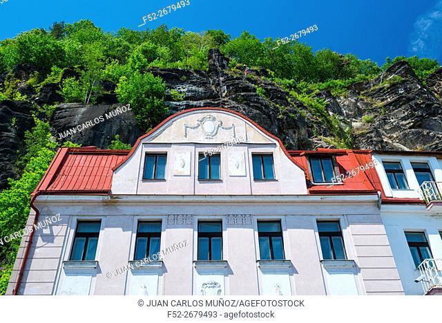 Via Ferrata Shepherd's Bluff, Bohemian Switzerland National Park, Decin Town, Elba River, Czech Republic, Europe