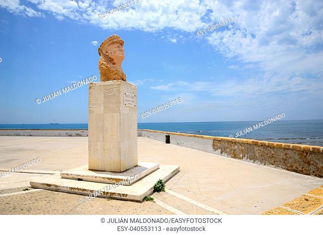 Bust of Paco Alba in Cadiz