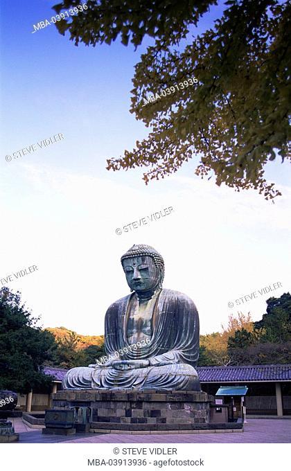 Japan, Kamakura, big Buddha Daibutsu, autumn, series, Asia, Honshu, Tokyo, Buddhastatue, statue, statue, bronze-statue, sight, attraction, destination, tourism