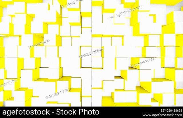 Hintergrund - Würfel Mischung Weiß Gelb