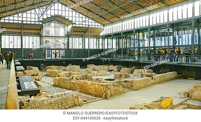 Excavations inside the Born of Barcelona, Catalunya, Spain