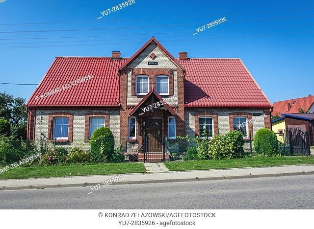 House in Przodkowo village in Kartuzy County, Kashubia region of Pomeranian Voivodeship in Poland