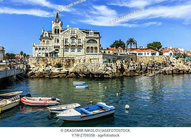 View of Cascais waterftont near Lisbon in Portugal