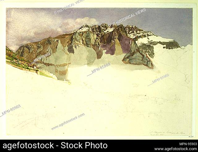 Mountainous Landscape in Italy : Il Resegone. Artist: Frank Randal (active 1881-1894); Former Attribution: John Ruskin (British, London 1819-1900 Brantwood