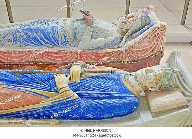 The tombs of King Henry II and Queen Eleanor of Aquitaine in Fontevraud Abbey