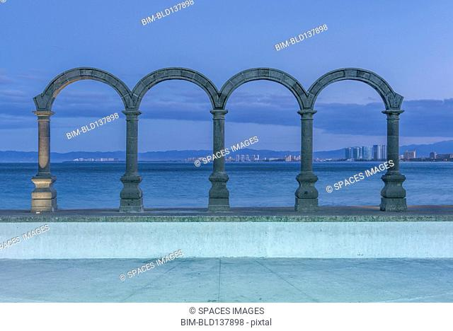 Stone arches overlooking ocean, Puerto Vallarta, Jalisco, Mexico