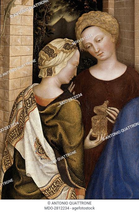 Adoration of the Magi (L'adorazione dei Magi), by Gentile da Fabriano (Gentile di Niccolà²), 1423, 15th Century, tempera on panel, 303 x 282 cm
