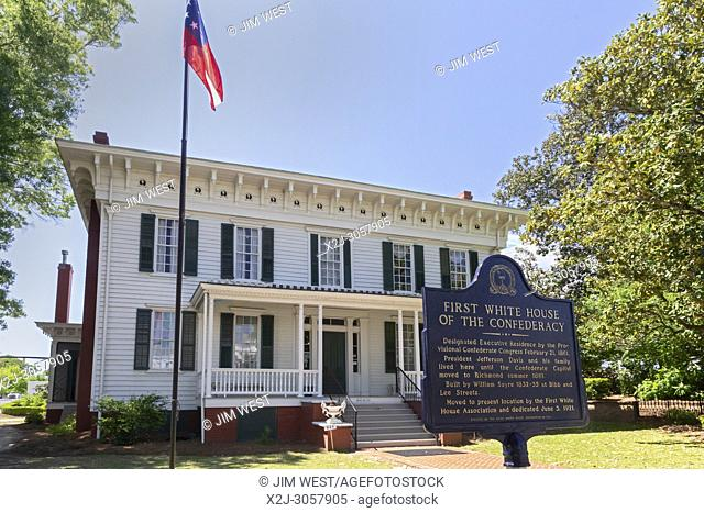 Montgomery, Alabama - The First White House of the Confederacy. Jefferson Davis, president of the Confederate States, lived here until the Confederate capital...