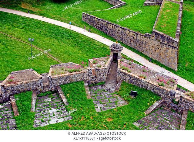 Stone walls of the Ciudadela, Pamplona, Navarra, Spain