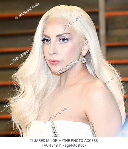 Lady Gaga attends the 2014 Vanity Fair Oscar Party on March 2, 2014 in West Hollywood, California