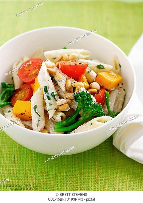Bowl of pasta salad