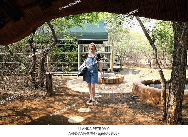 Tourist, Jackalberry Ridge Bush Camp, Marloth Park, Mpumalanga, South Africa