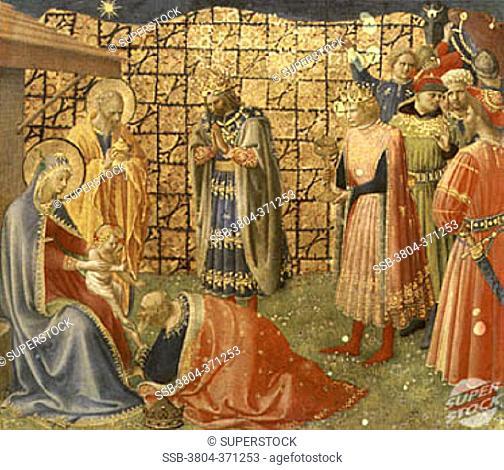 Adoration of the Magi Fra Angelico ca.(1400-1455/Italian)