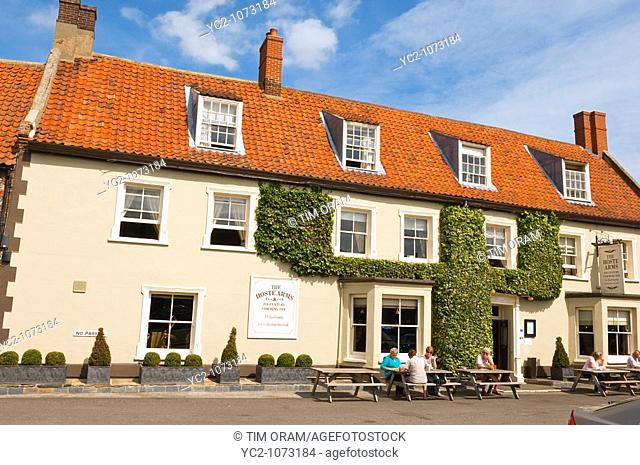 The Hoste Arms in The Popular North Norfolk village of Burnham Market in Norfolk Uk