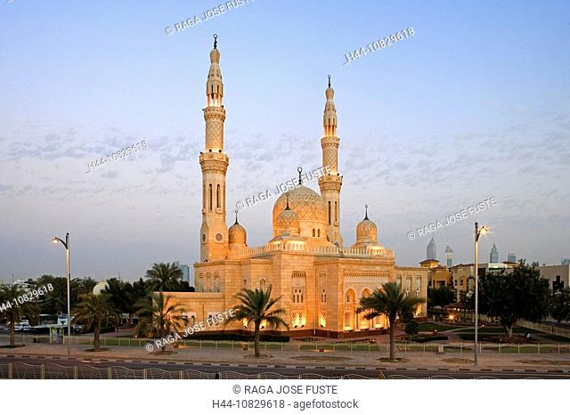 United Arab Emirates, Asia, Middle East, Arabia, East, UAE, Dubai town, city, Jumeirah mosque, building, construction